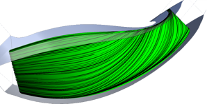 Secondary flows on the suction surface of the original impeller
