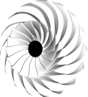 Geometry of impeller designed by TURBOdesign Suite