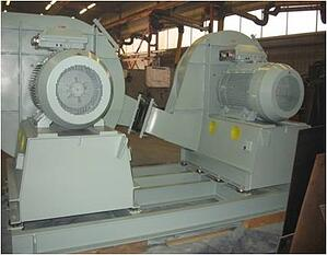 Single & dual stage combustion air fans