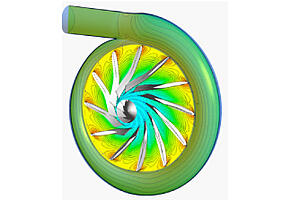 Velocity distribution for turbine stage