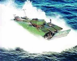 The EVF is an amphibious vehicle that allows Marines to implement operational maneuvers from the sea to land. The pictures above highlight the EFVs extensive sea trials testing
