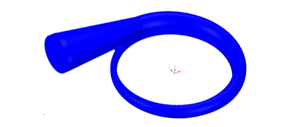 3D solid model of a volute generated by TURBOdesign Volute