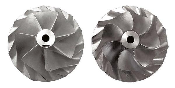 Standard design (left) compared to TURBOdesign1 (right)