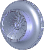 Geometry of the baseline (conventional) impeller